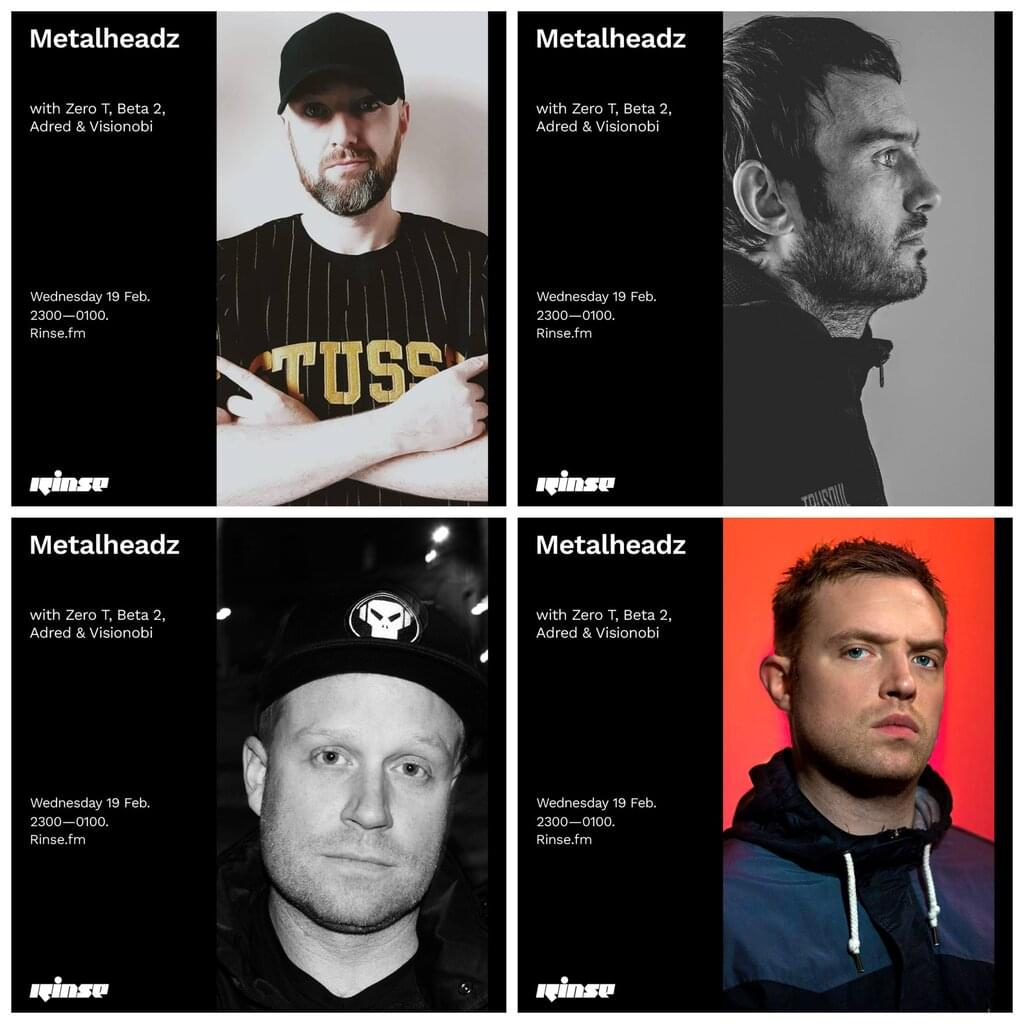 Rinse FM - February 2020 - Zero T, Beta 2, Adred & Visionobi