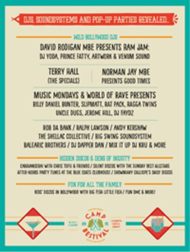 Music Mondays & World Of Rave Presents at Camp Bestival 2015