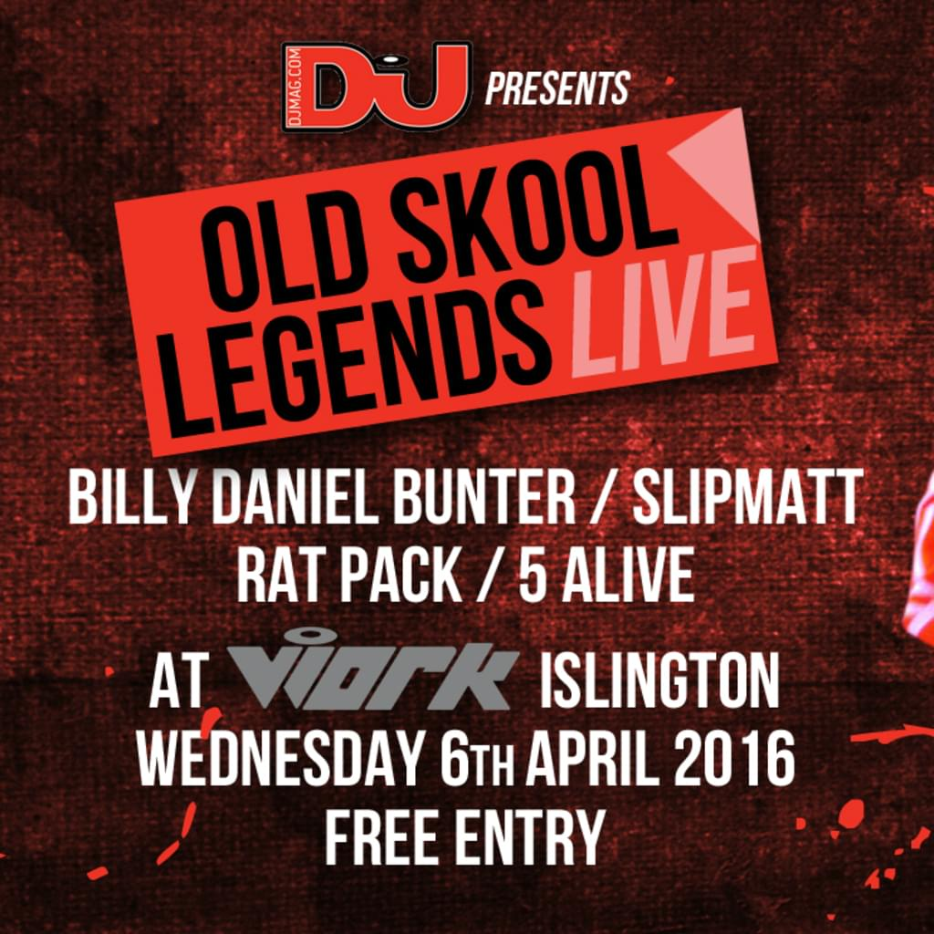 DJ mag present Old Skool Legends Live