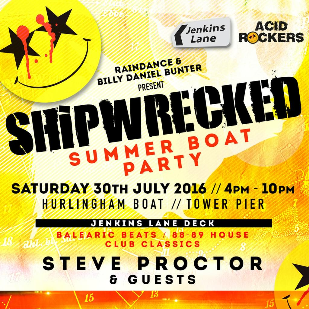 Jenkins Lane & Acid Rockers - Shipwrecked Boat Party