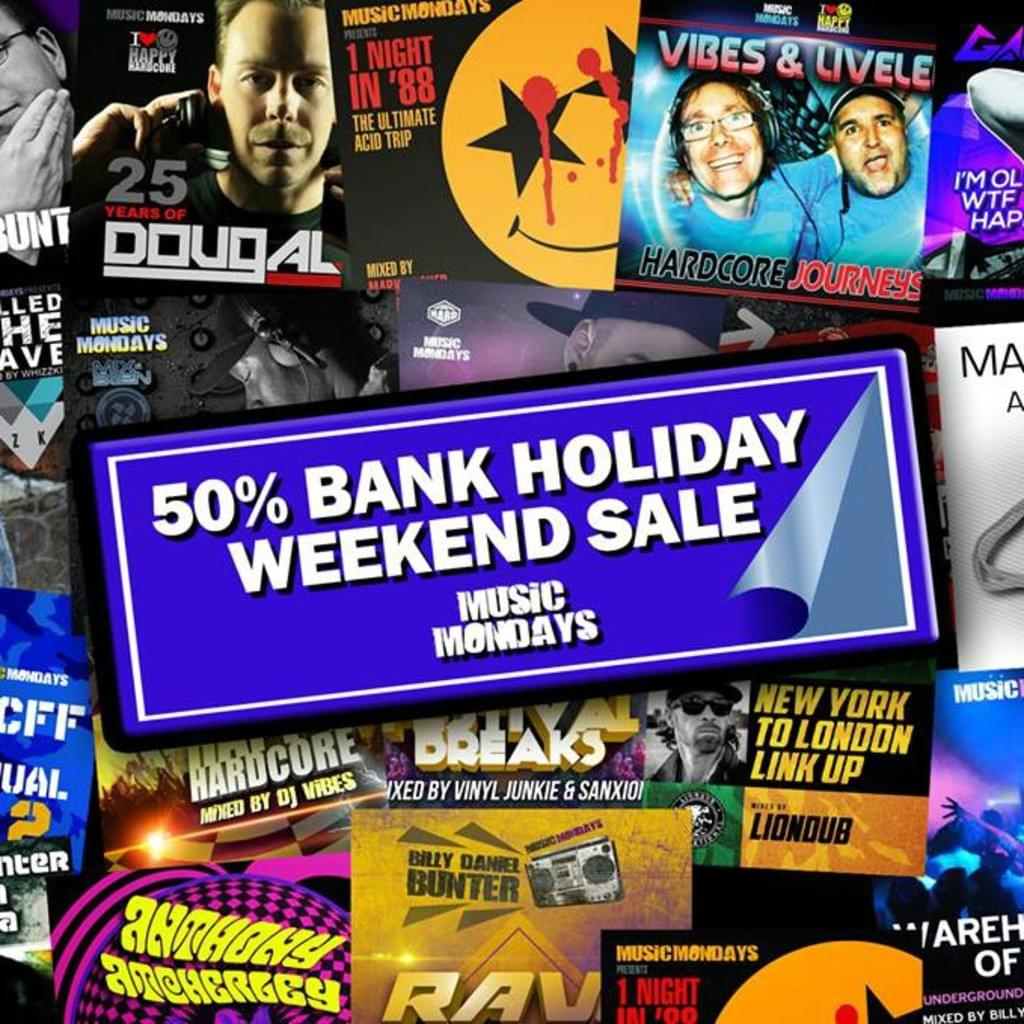 Bank Holiday Weekend 50% Sale