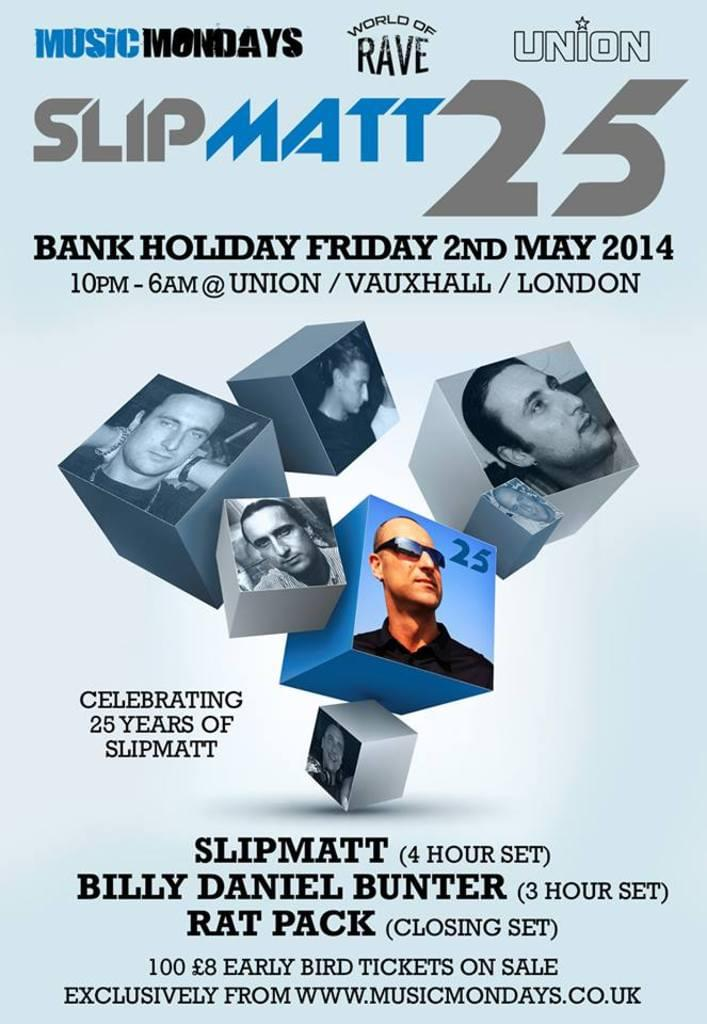 DJ Slipmatt 25 - Early bird tickets on sale now