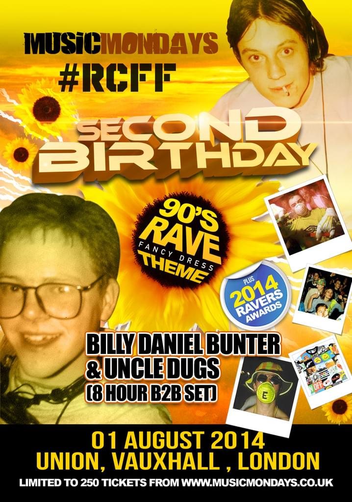 Limited EarlyBird Tickets on sale now. RCFF & MusicMondays 2nd Birthday party